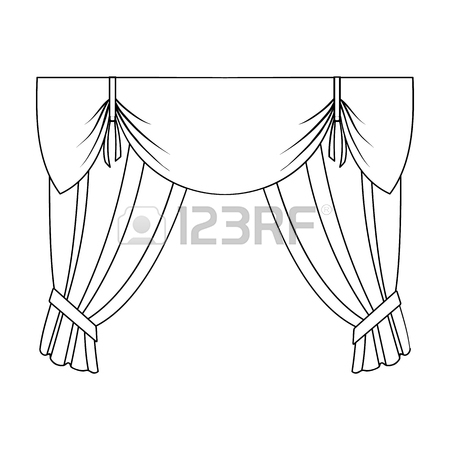450x450 Curtains With Drapery On The Cornice.curtains Single Icon
