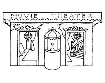 340x270 Theater Rubber Stamp Etsy