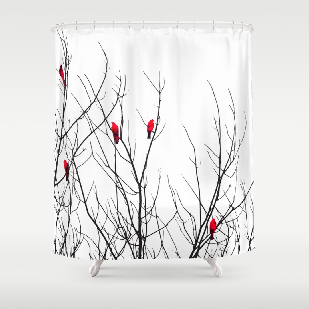 1080x1080 Abstract, Animals And Black White Shower Curtains Society6
