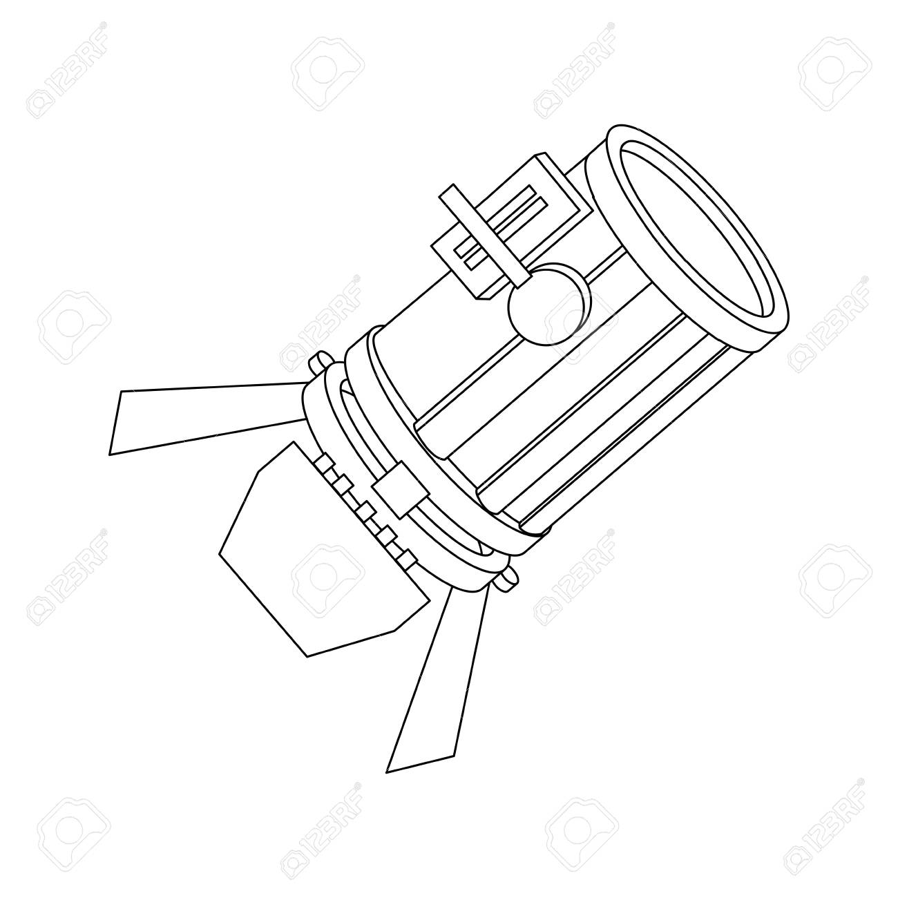 1300x1300 Stage Light Studio Lamp Spotlight Equipment Vector Illustration