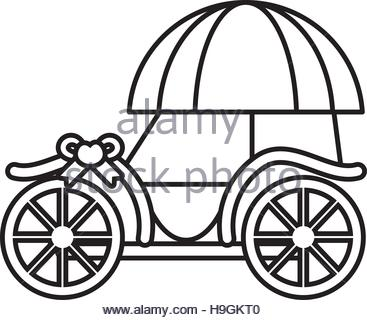 367x320 carriage vintage, antique transport icon, vector illustration