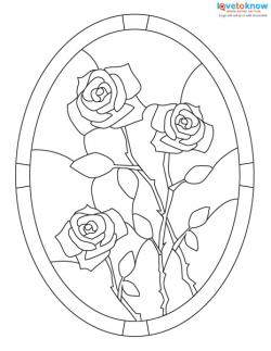250x323 Free Stained Glass Patterns Lovetoknow