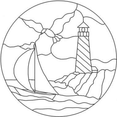 380x380 Free Stained Glass Patternsterris Lighthouse