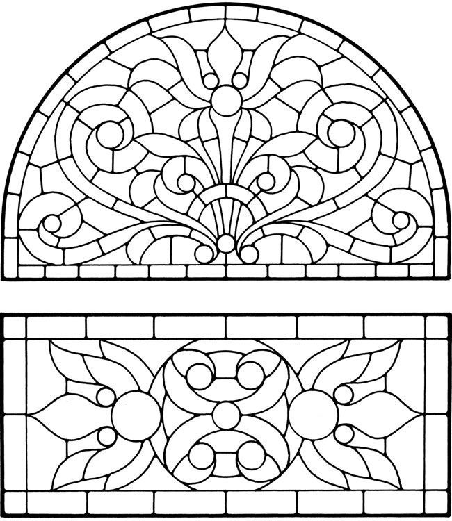 650x750 Beautiful Stained Glass Coloring Pages For Adults 84 On Print