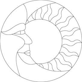 273x273 Stained Glass Sun Moon Pattern Other Files Patterns