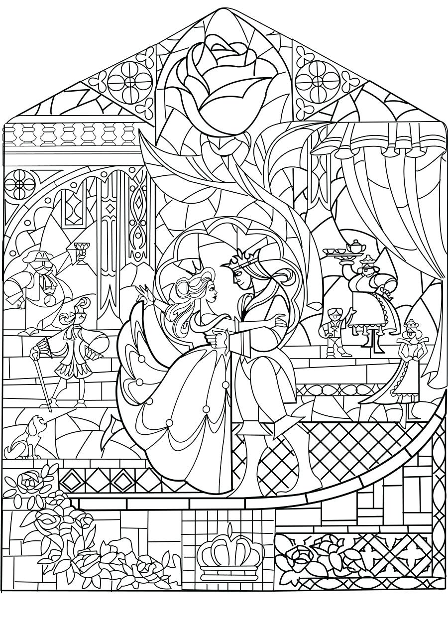 900x1273 Coloring Stained Glass Window Coloring Page