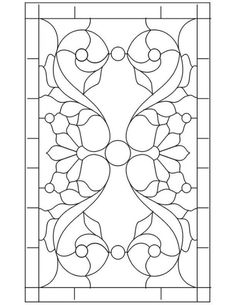 236x305 Leaded Or Stained Glass Pattern For My Bathroom Or Side Door