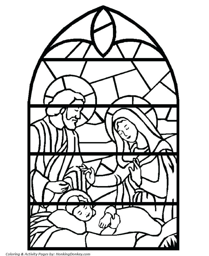 670x820 Free Bible Coloring Pages Stained Glass Window Printable Coloring