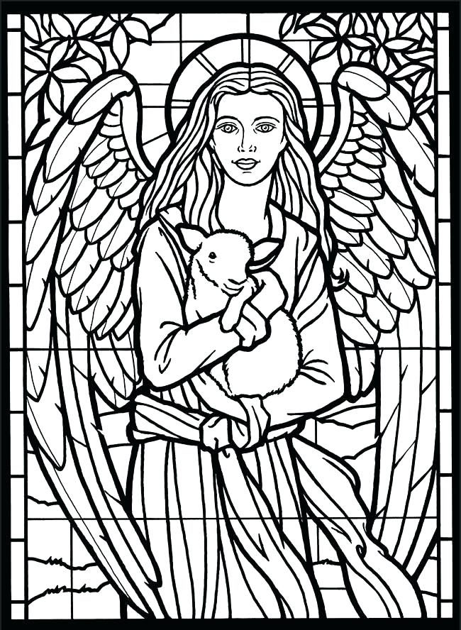 650x888 New Stained Glass Window Coloring Pages Online Book Packed