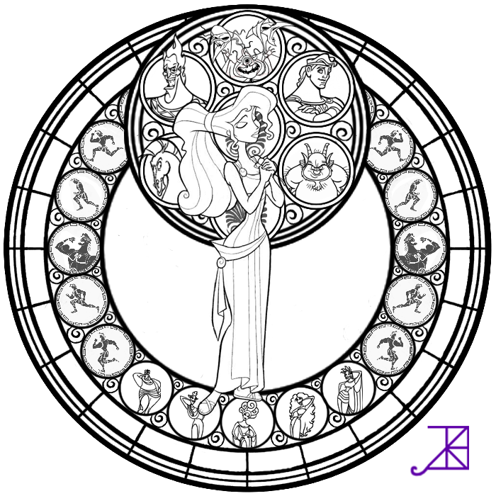 700x700 printable stained glass window coloring page343961
