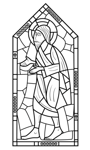 289x480 Religious Stained Glass Coloring Page Free Printable Coloring Pages