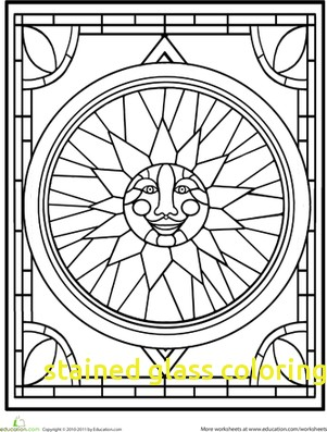 301x397 Stained Glass Coloring Pages With Amazing Christmas Stained Glass