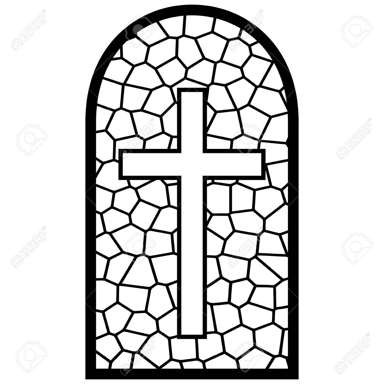 1300x1300 Stained Glass Window Illustration Royalty Free Cliparts, Vectors