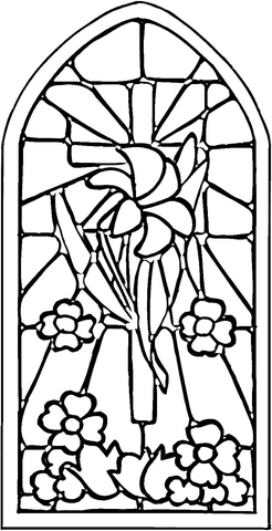 246x480 Stained Glass Window Coloring Page Free Printable Coloring Pages