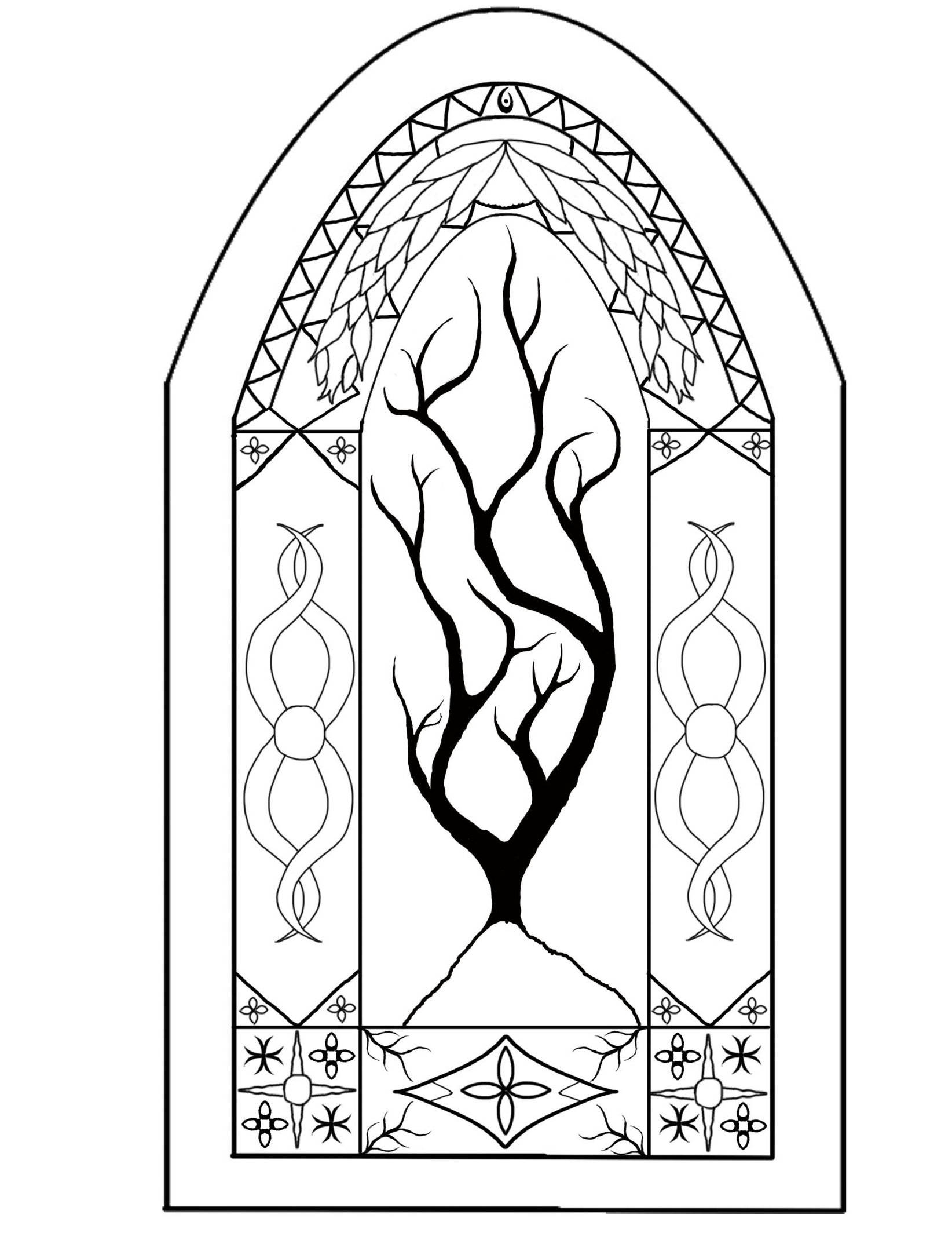 1644x2128 Stained Glass Windows No Color By Helghast5000