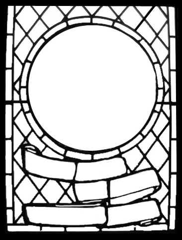 366x484 Stained Glass Window Template For A Dolls House. Miniatures