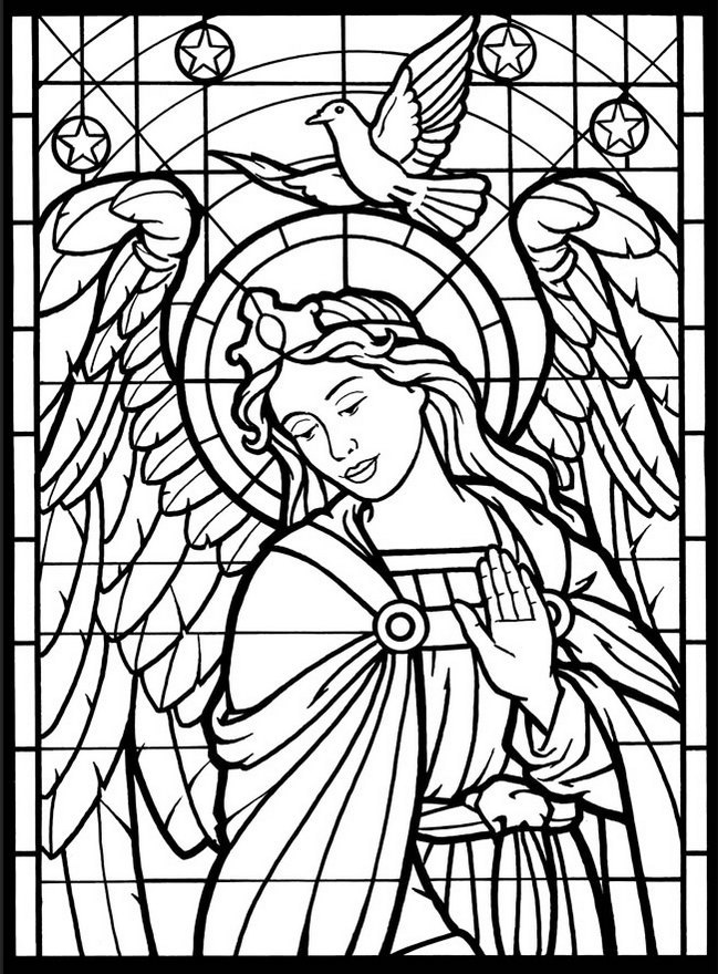 649x880 The Top 11 Christmas Stained Glass Coloring Pages