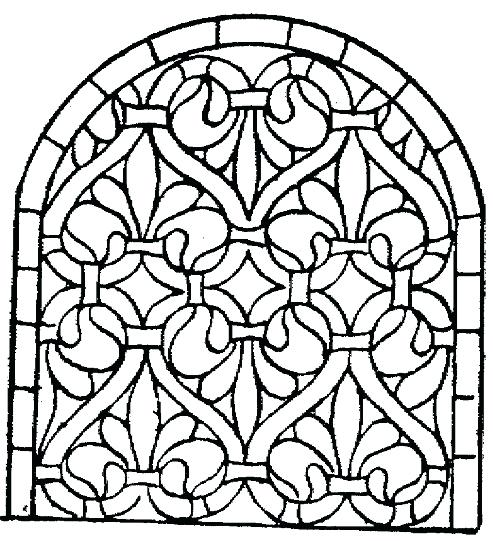 493x541 Beauty And The Beast Stained Glass Window Coloring Page