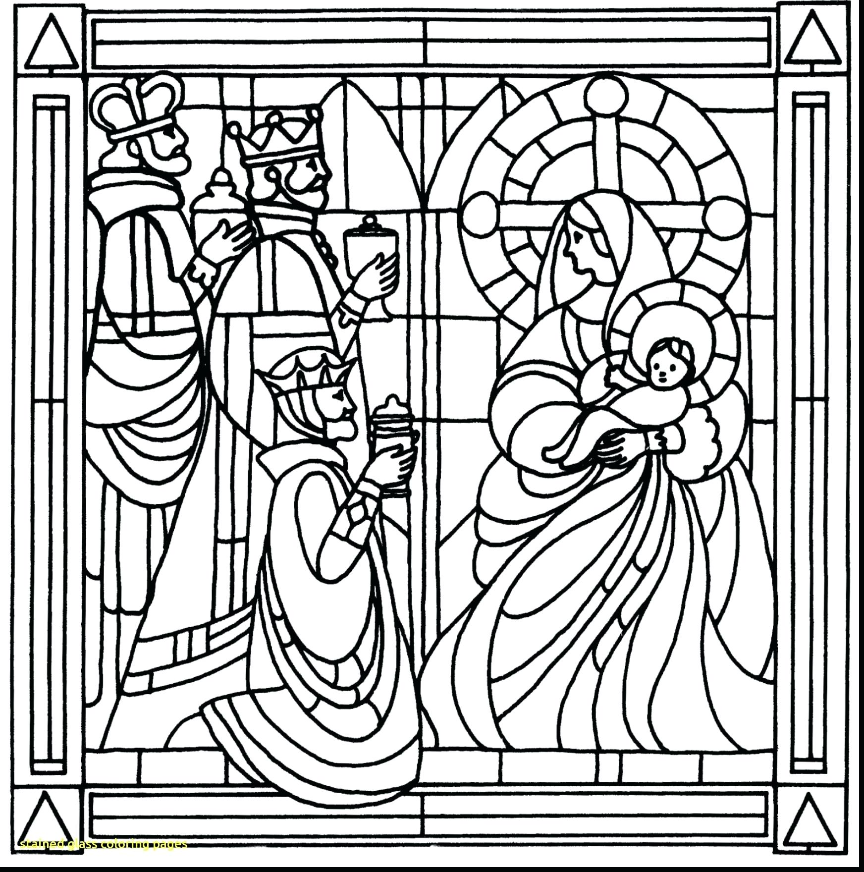 1744x1760 Coloring Stained Glass Window Coloring Page