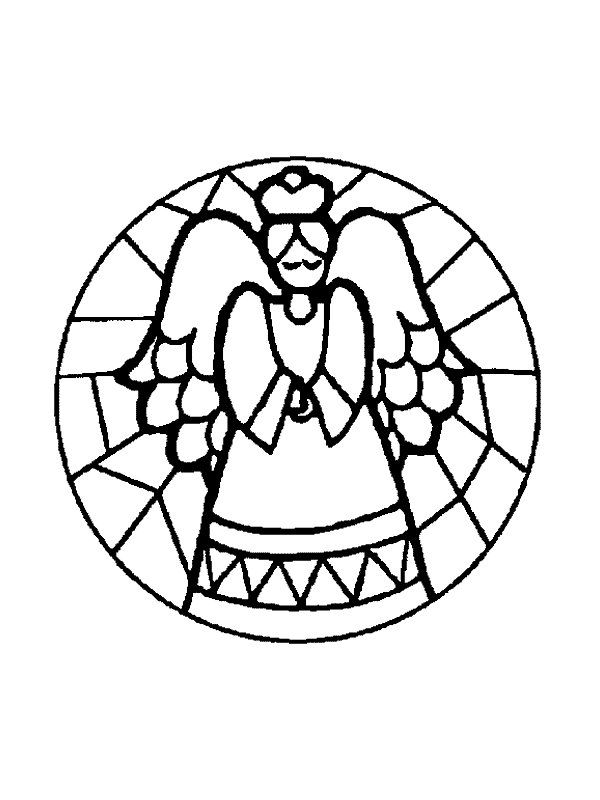 600x800 Christmas Stained Glass Coloring Pages