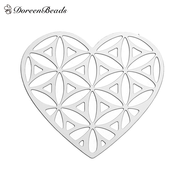 640x640 Doreenbeads 304 Stainless Steel Flower Of Life Embellishments