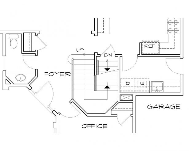 615x492 Apartments Combination Stair Two Staircase House Plans Floor