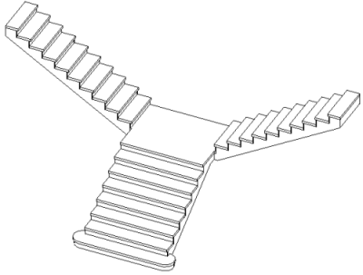 400x303 2013 T Shaped Stair In Revit 2013