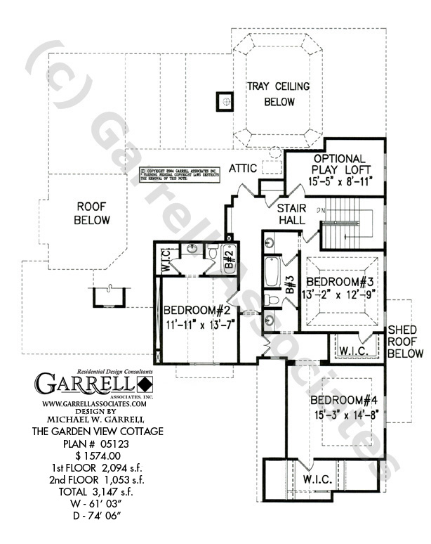 614x774 Garden View Cottage House Plan Country Farmhouse Southern