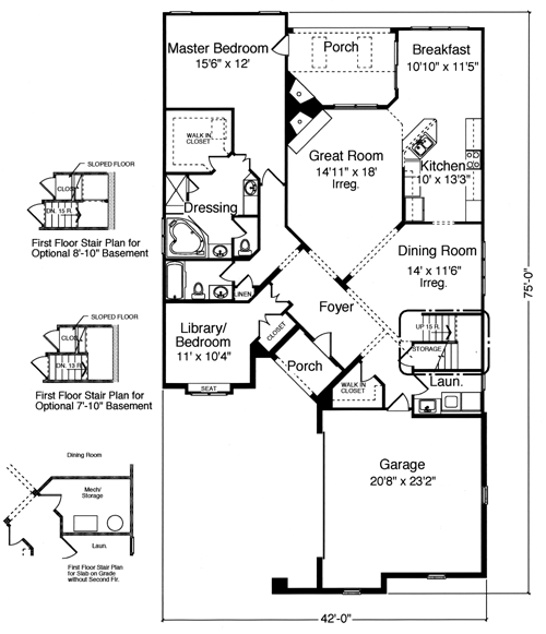 500x581 House Plans Drawn For The Narrow Lot By Studer Residential Designs