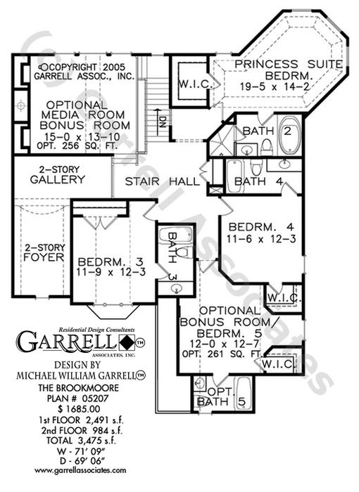 510x700 Brookmoore House Plan House Plans By Garrell Associates, Inc.