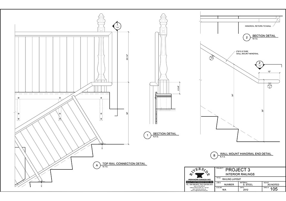 960x675 Riverside Ironwork Canada Inc. Staircase Project 6