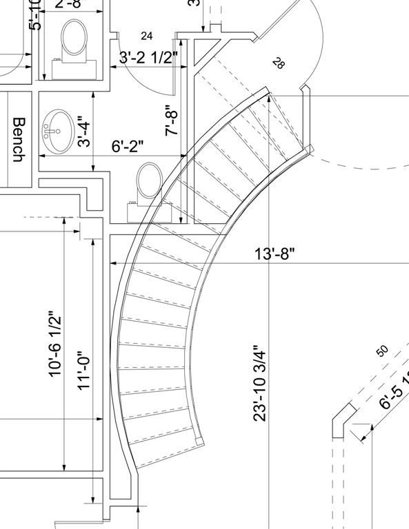 593x768 Curved Staircase Drawing Staircase Gallery