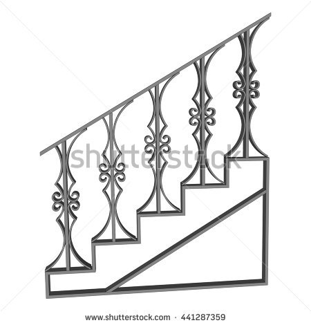 450x470 Drawn Stairs Side