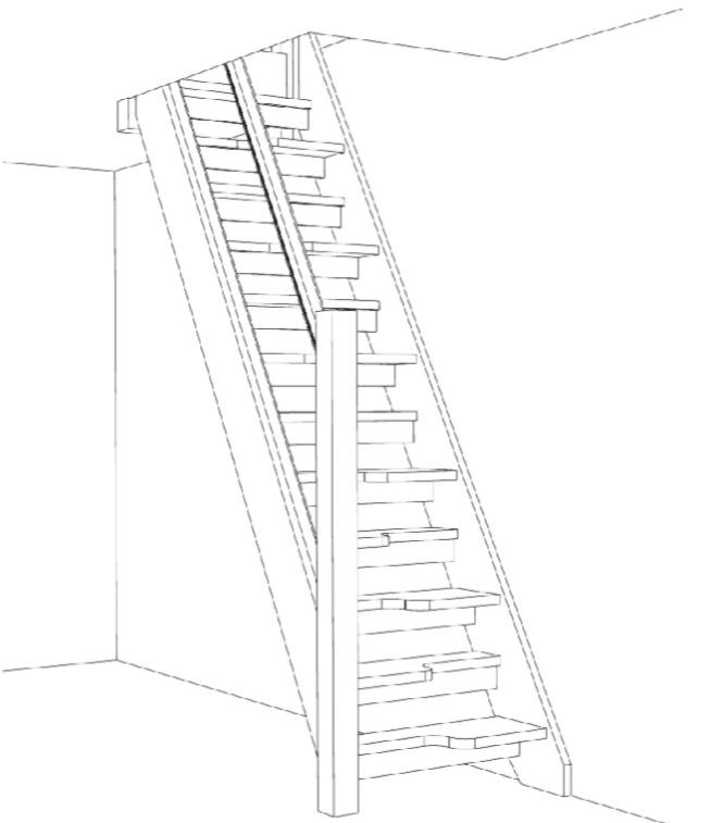 654x757 Paddle Stairs Amp Space Saving Stairs Design