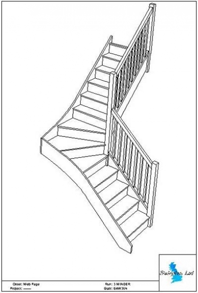 392x580 Staircase Plans Choose Your Staircase Design Then Phone Us