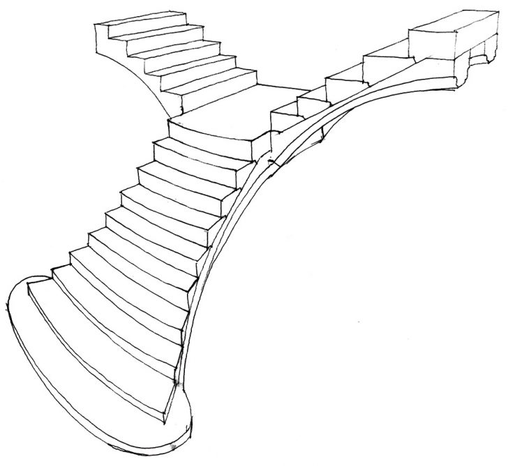 728x668 Technical Drawings, Drawings And Staircases On Staircase