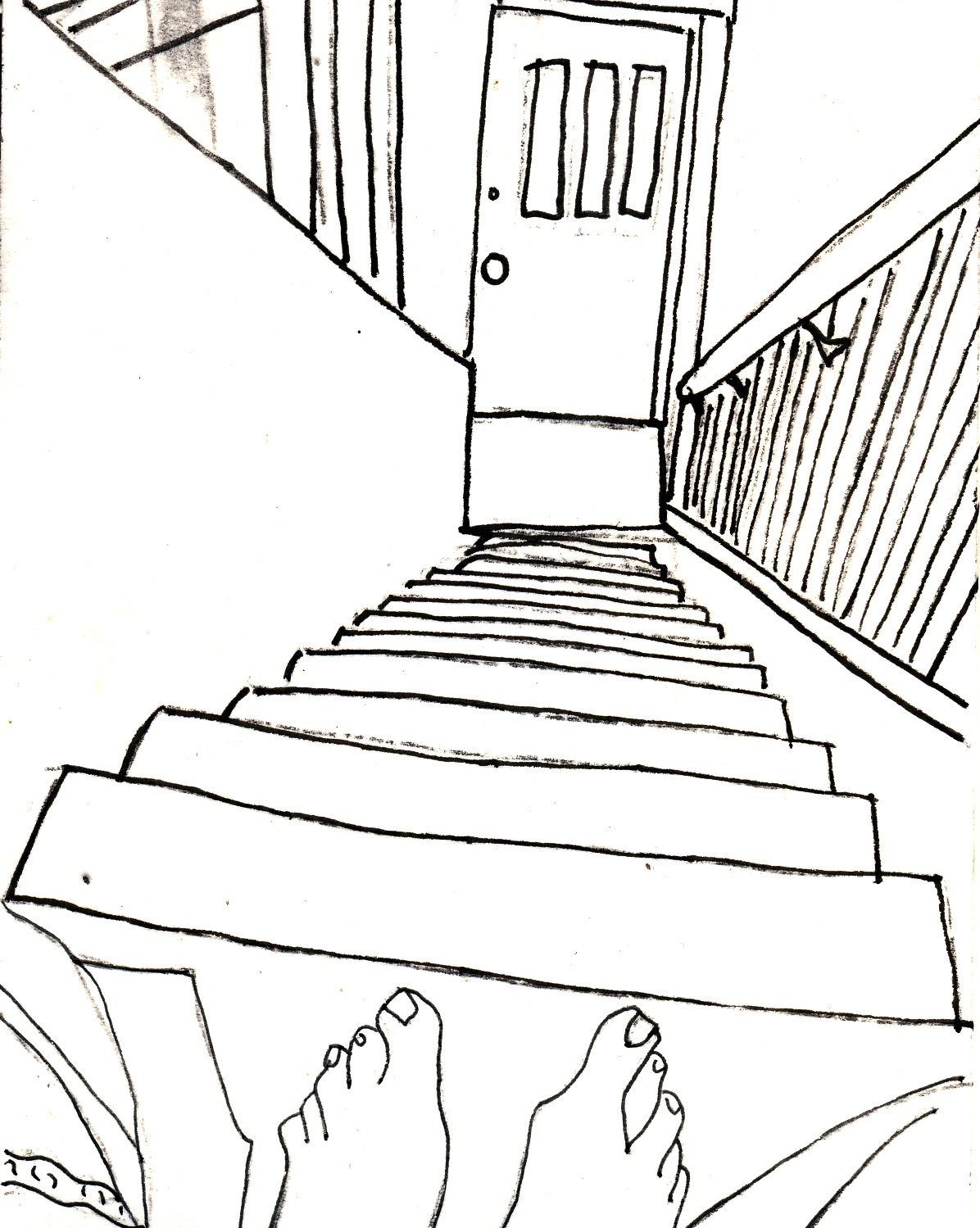 1196x1499 Contour Line Stairs Perspective Lessons Contours