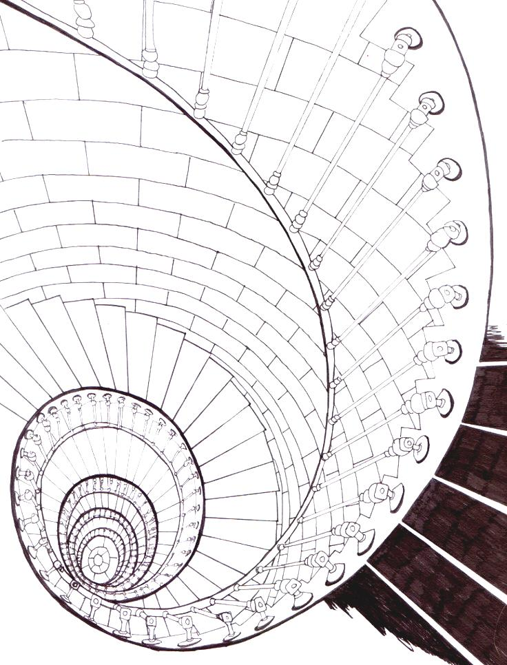 736x966 Best Tips For Spiral Staircase Drawing With Online Design