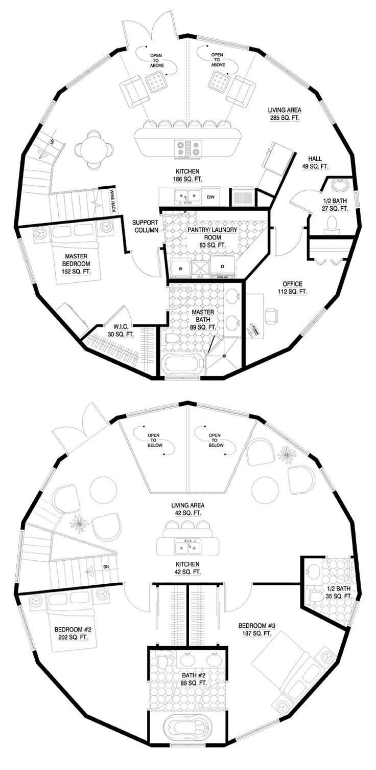 Staircase plan drawing at getdrawings free for personal use 736x1505 circular building design concept modular round houses advantages malvernweather Choice Image
