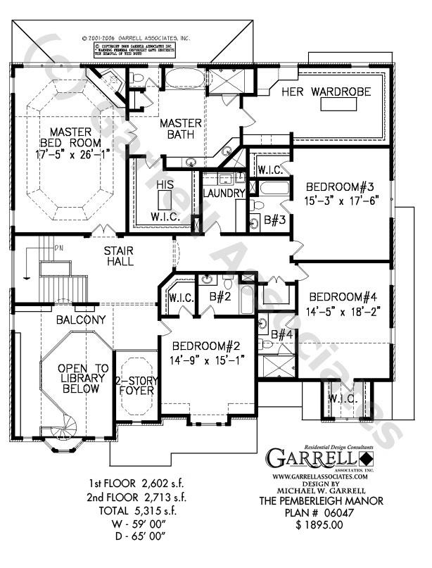 614x807 Pemberleigh Manor House Plan House Plans By Garrell Associates, Inc.