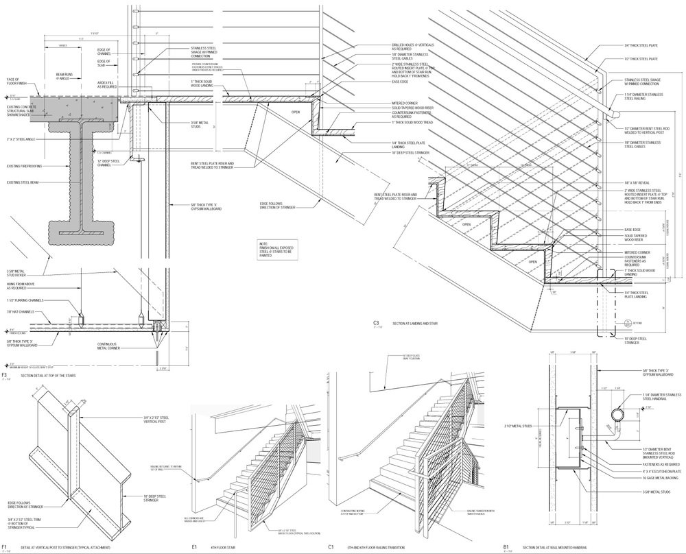 1000x808 Stairs Construction Drawings Staircase Details Dwg Plan Elevation