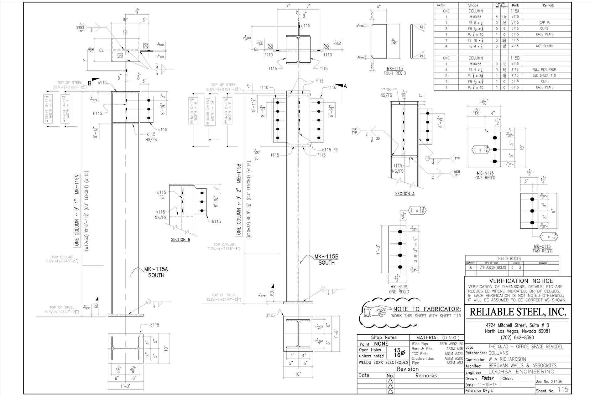 1899x1266 Structural Steel Shop Drawings