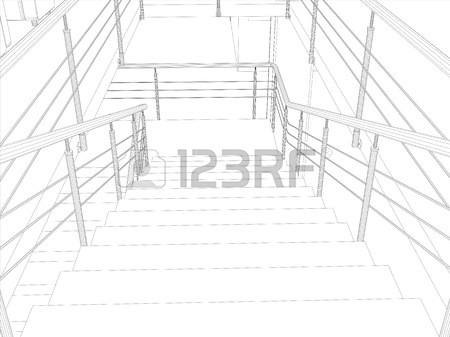 450x337 Linear Architectural Sketch Studio Front View Gray Background