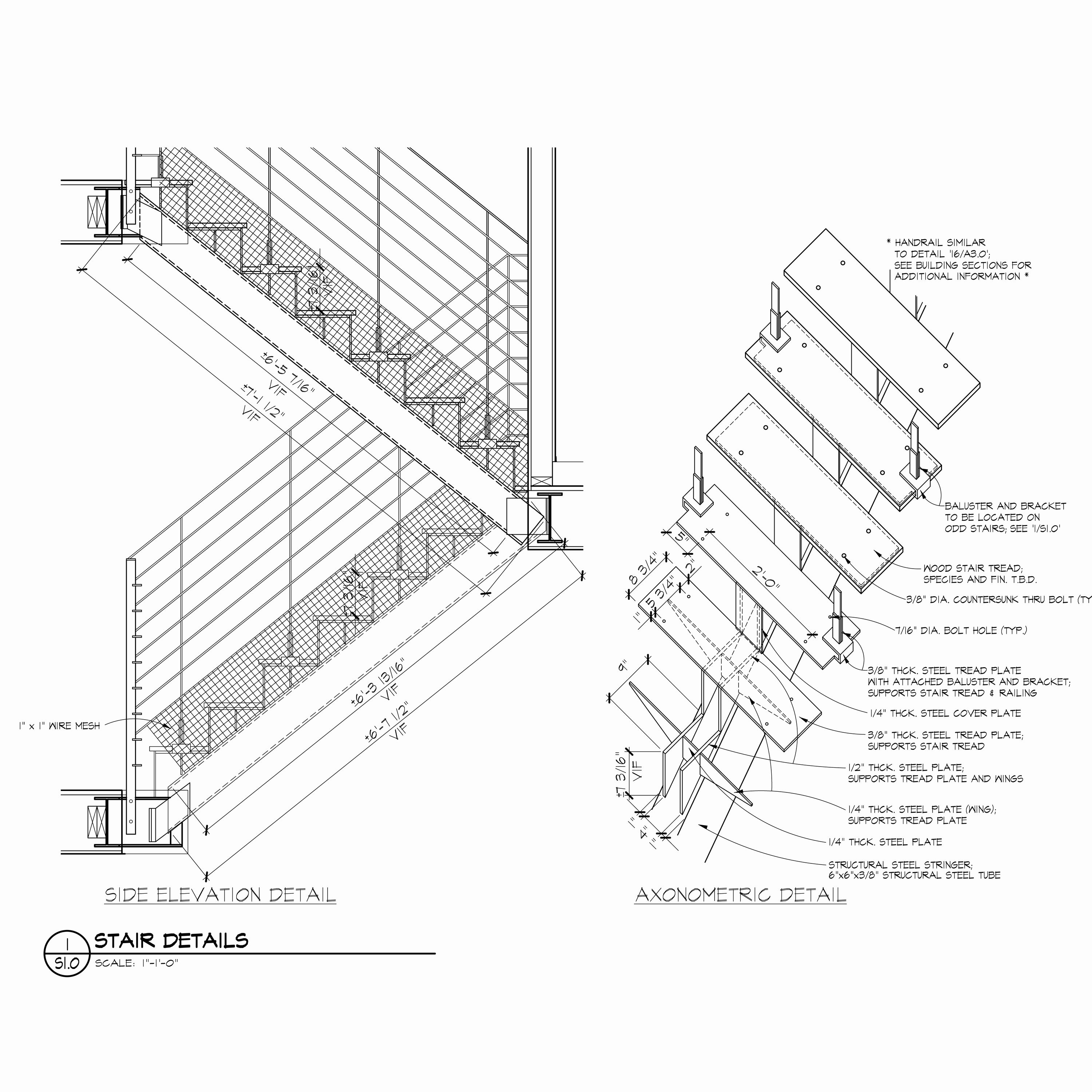 Stairs Section Drawing