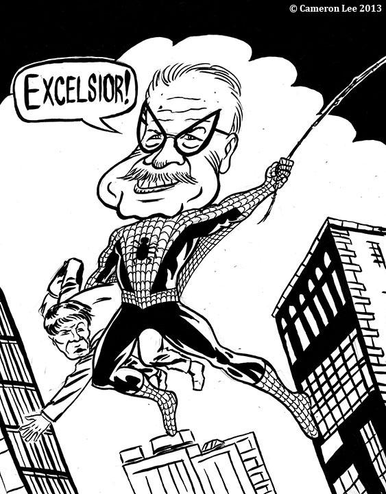 563x720 Cameron Lee Comics Amp Illustration Stan Lee Spider Man Caricature