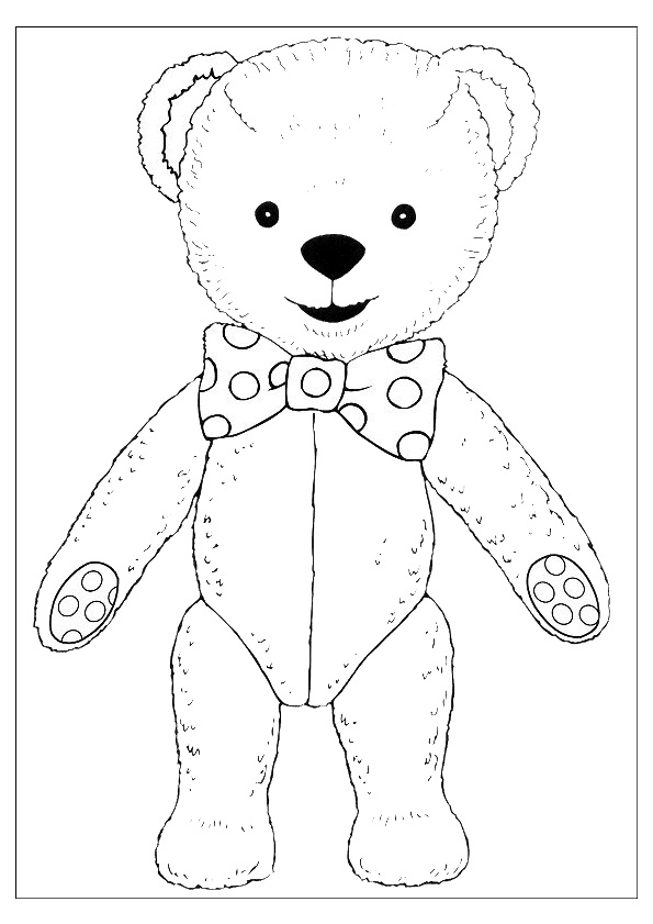 595x841 Free Printable Teddy Bear Coloring Pages