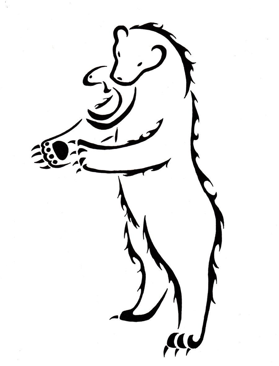 900x1177 Grizzly Bear Tribal Tatt. By Zanture Angel