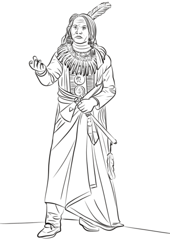 339x480 Standing Bear Ponca Chief Coloring Page Free Printable Coloring