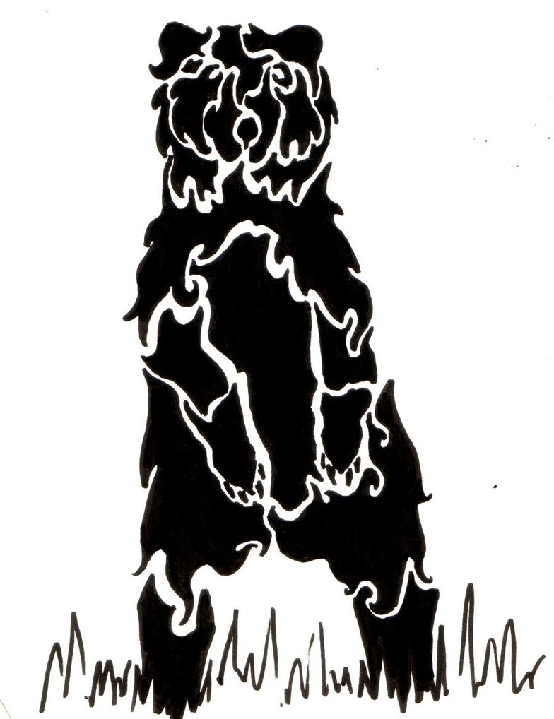 784x1018 Standing Bear Tattoo By Hatchibi