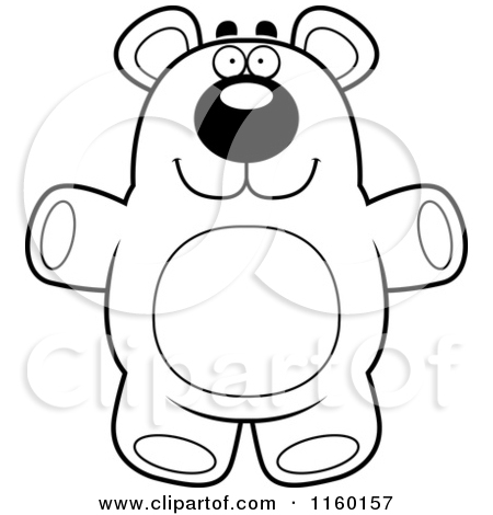 450x470 Standing Black Bear Drawing Clipart Panda